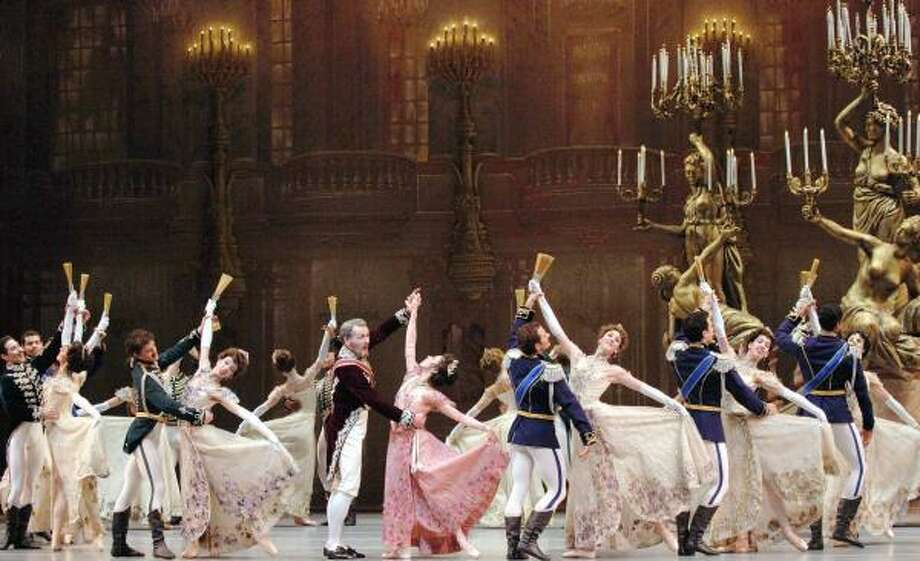 Artists of the Pacific Northwest Ballet dance a waltz from The Merry Widow, featuring choreography by Ronald Hynd and sets and costumes by Roberta Guidi di Bagno. Houston Ballet performs this production Sept. 6-16 at the Wortham Theater Center. Photo: Angela Sterling, Houston Ballet