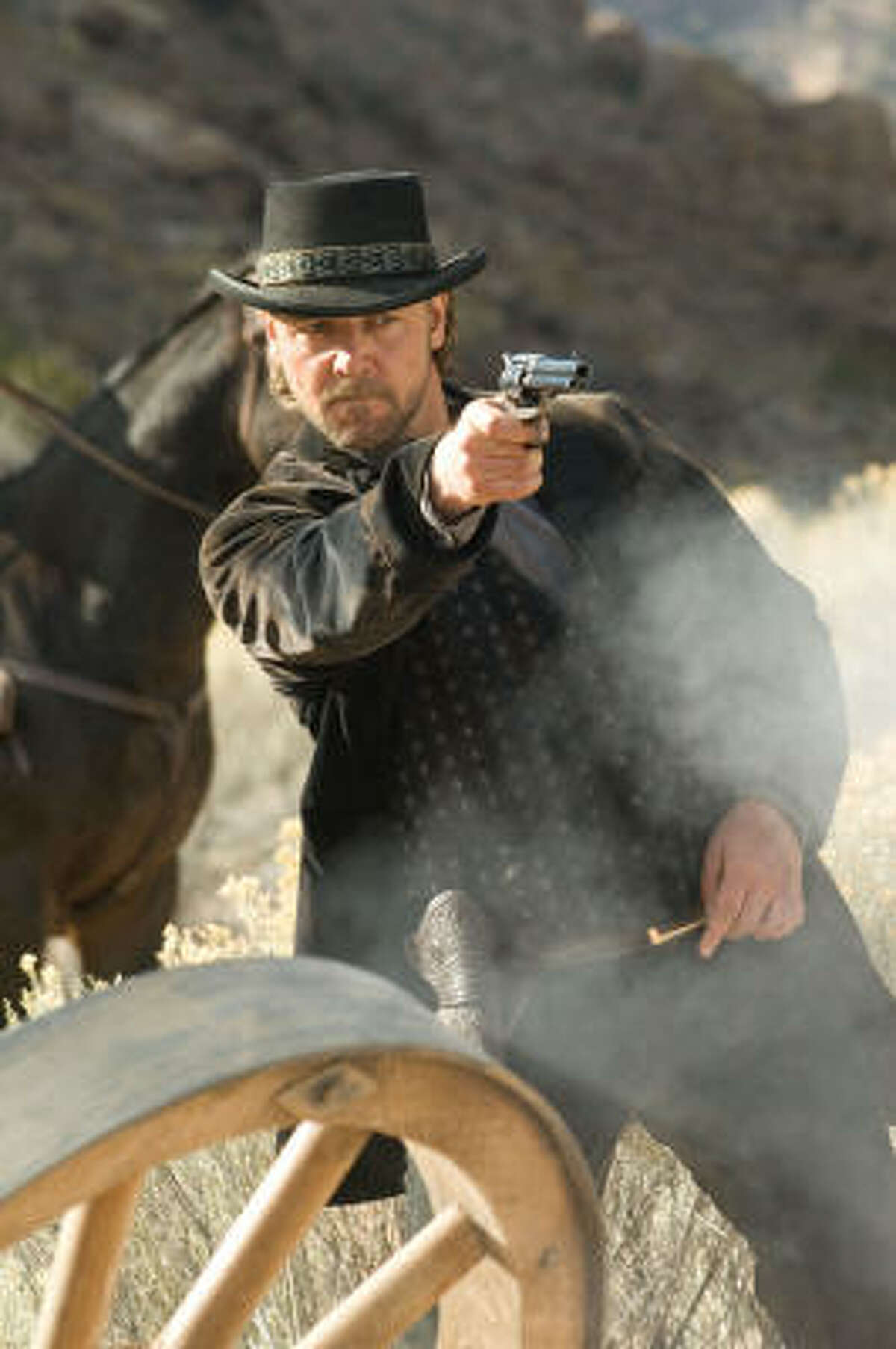 Russell Crowe stars as Ben Wade, a notoriously successful boss of bandits, in 3:10 to Yuma.