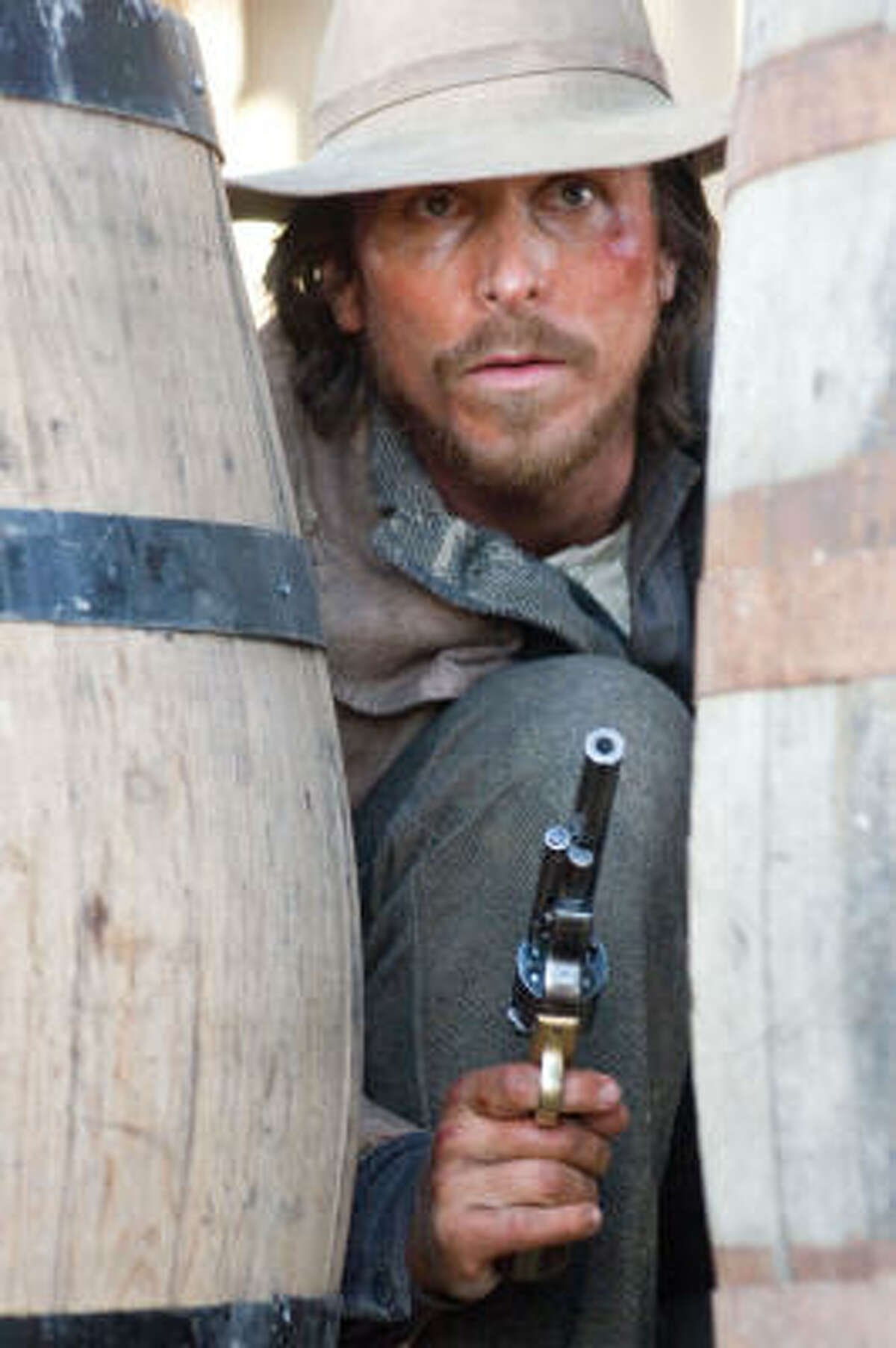 Christian Bale stars as Dan Evans, a one-legged former Union soldier who's deep in debt, in 3:10 to Yuma.