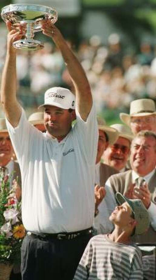 Everybody had to look up to Phil Blackmar when the 6-7 golfer won the Shell Houston Open in 1997. He continued to play the event on a regular basis even after leaving the PGA Tour in 2000. Photo: Unknown, CHRONICLE FILE