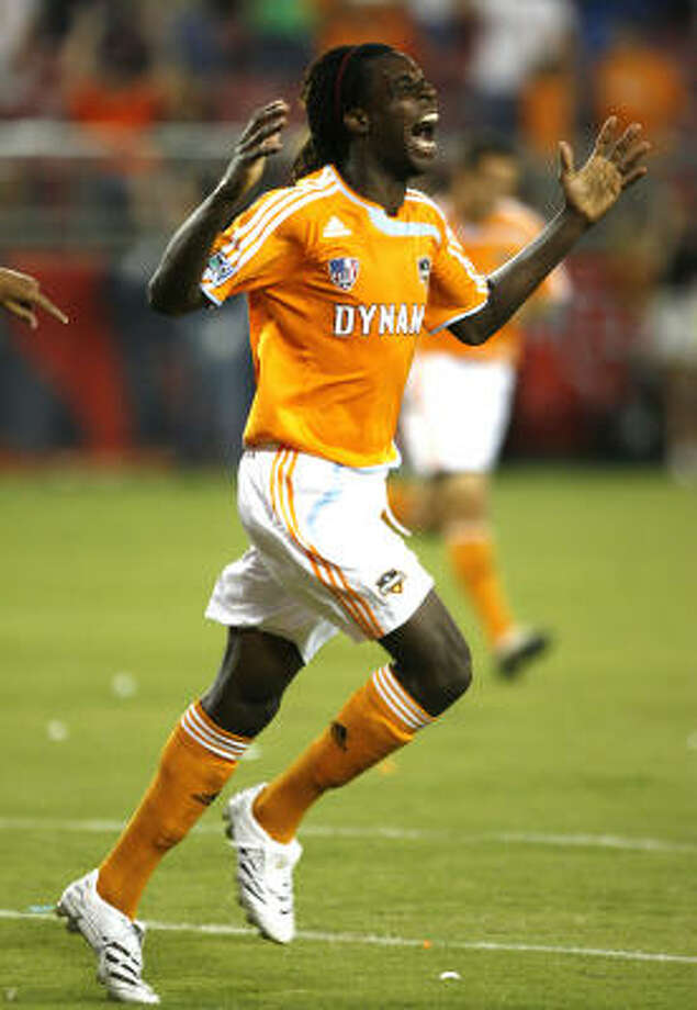 Joseph Ngwenya has helped the Dynamo to a nine-game MLS unbeaten by leading the team in scoring with six goals. Photo: Bob Levey, For The Chronicle