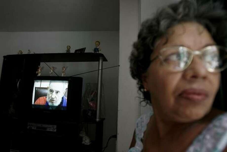 Viewers watching Cuban state-run TV on Sunday got a chance to hear leader Fidel Castro talk with Venezuelan President Hugo Chavez. Photo: JAVIER GALEANO, ASSOCIATED PRESS