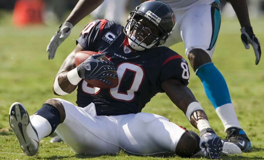 Andre Johnson has been sidelined with an injured knee since the Texans' win over Carolina in Week 2. Photo: Smiley N. Pool, Chronicle