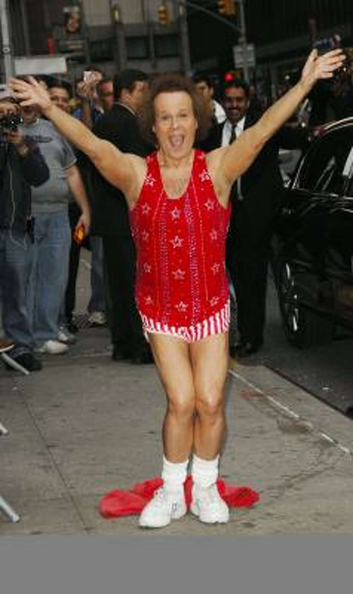 Fitness expert Richard Simmons appeared on The Late Show With David Letterman last month in New York.