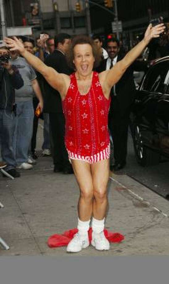 Fitness expert Richard Simmons appeared on The Late Show With David Letterman last month in New York. Photo: Ray Tamarra, GETTY IMAGES