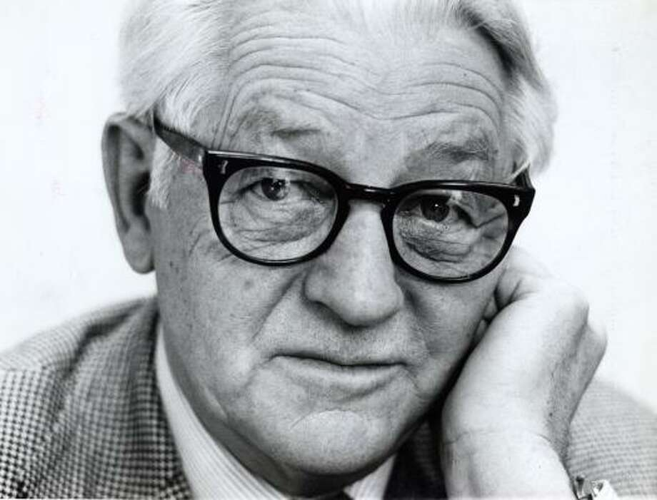 Written in 1955, Wallace Stegner's Discovery! reads like a novel. This photo of the author was taken in 1979. He died in 1993 at age 84. Photo: CHRONICLE FILE