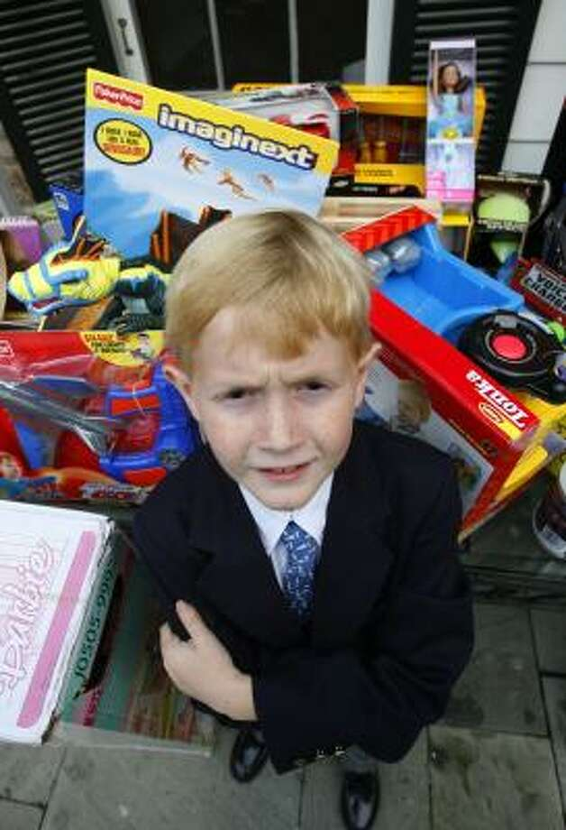 Stephen Smith, 8, launched his first toy drive when he was 4 years old. Photo: STEVE UECKERT, CHRONICLE