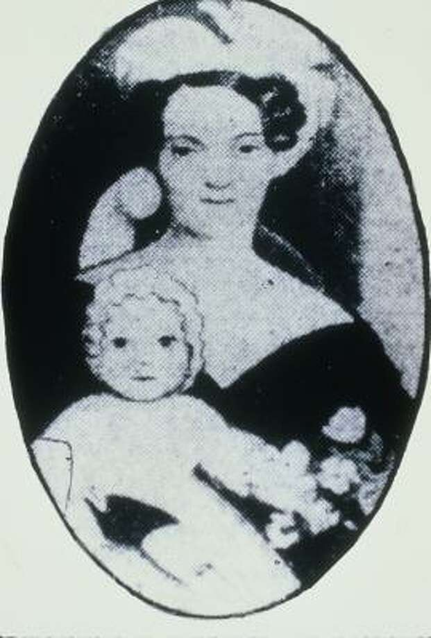 Charlotte Allen, the wife of A.C. Allen. Her family inheritance helped the A.C. and brother John Kirby Allen speculate in land. Photo: Betty Chapman