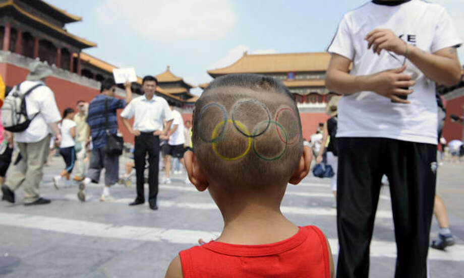 Aug. 19, 2008: There's more blue sky at the Forbidden City. Photo: Odd Andersen, AP