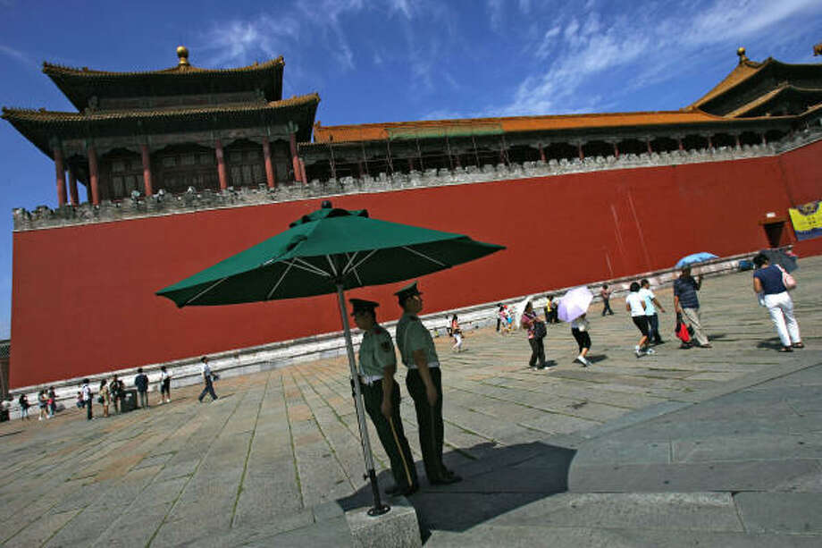 Aug. 15, 2008: Check out that blue sky over the Forbidden City. Photo: China Photos, Getty Images