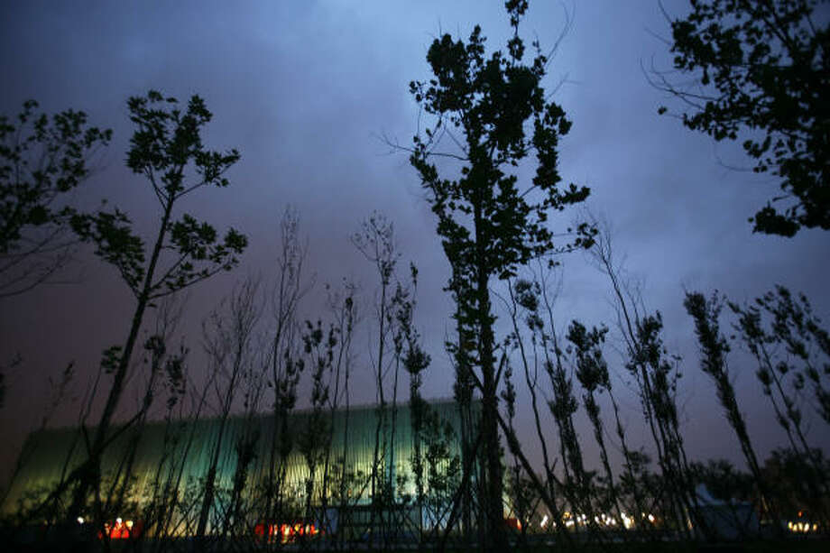 July 31, 2008: The Beijing Olympic Basketball Gymnasium is seen in Beijing. Photo: Ng Han Guan, AP