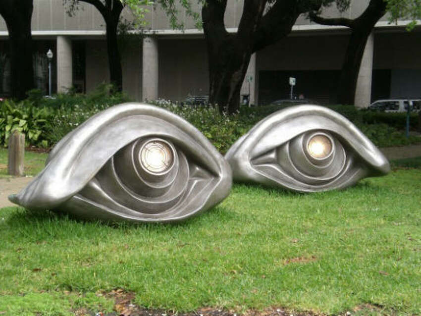 Eyebenches IV by Louise Bourgeois sits in New Orleans' Lafayette Square across from the U.S. Fifth Circuit Court of Appeals. Sculpture for New Orleans arranged the loan of this and other public artworks to the city.