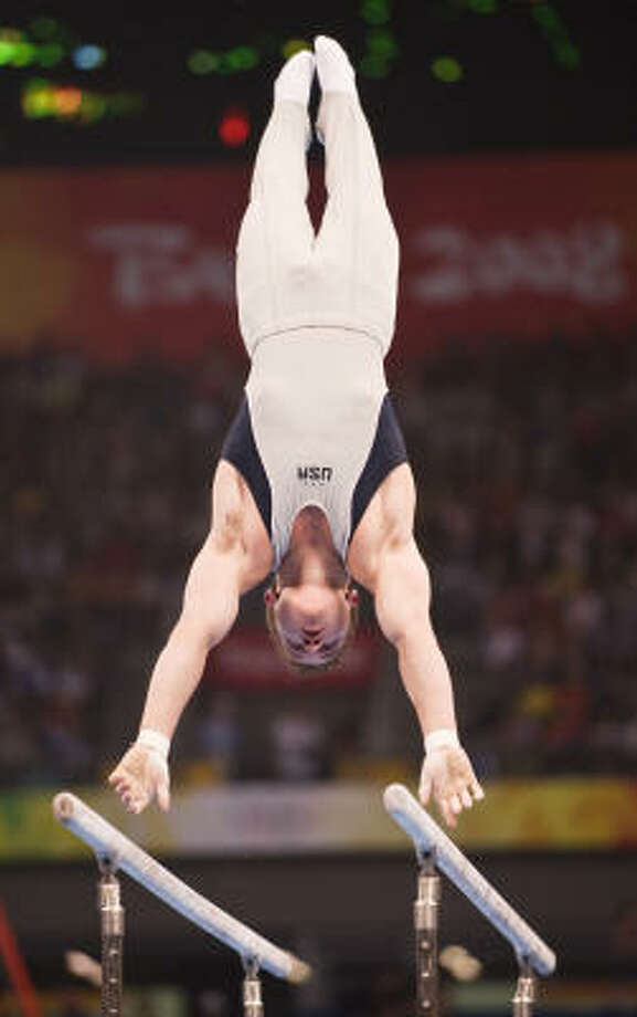 Jonathan Horton of Houston finished ninth in gymnastics. ``It's my first Olympics and I couldn't be more proud of my team and myself and how we did,'' said Horton, 22. ``I have no regrets. I did everything I could today. I had fun.'' Photo: Smiley N. Pool, Chronicle