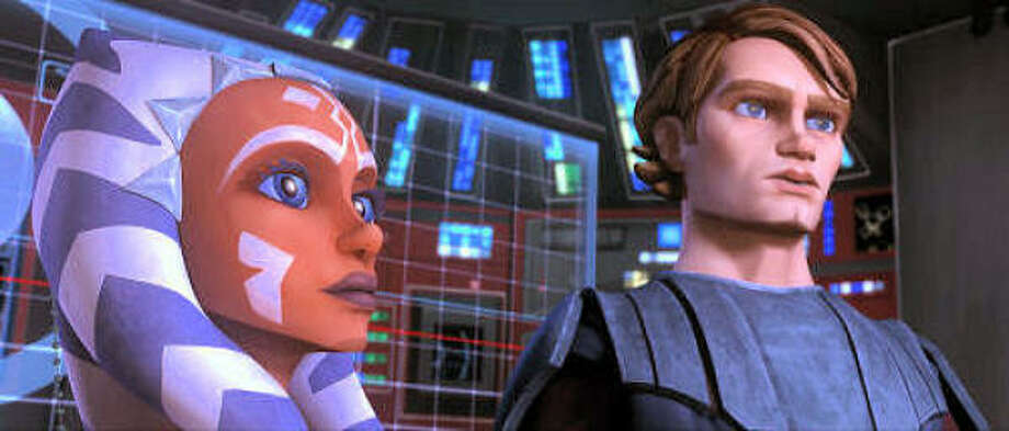 Jedi Knight Anakin Skywalker takes on a padawan learner, Ahsoka Tano. Photo: Lucasfilm Ltd.