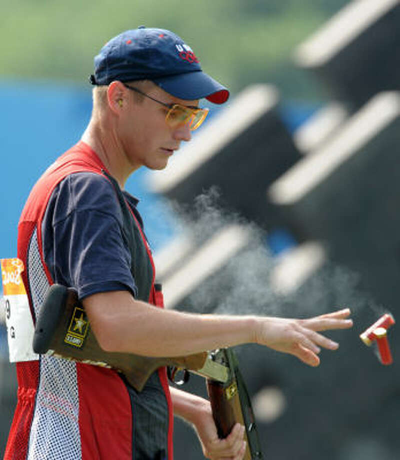 Glenn Eller will bring a gold medal back to Katy after his win in double trap shooting. He's a former Army marksman who says he's still thinking about a career in the military. Photo: ISSOUF SANOGO, AFP/Getty Images