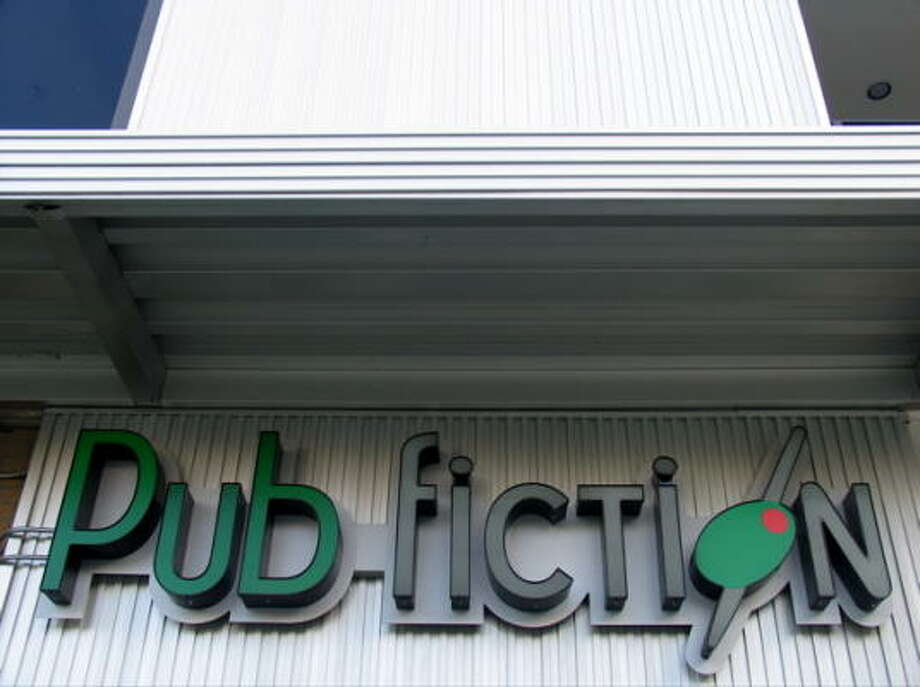 Catch up on the office gossip during happy hour at Pub Fiction, 2303 Smith. Photo: Jordan Graber, For The Chronicle