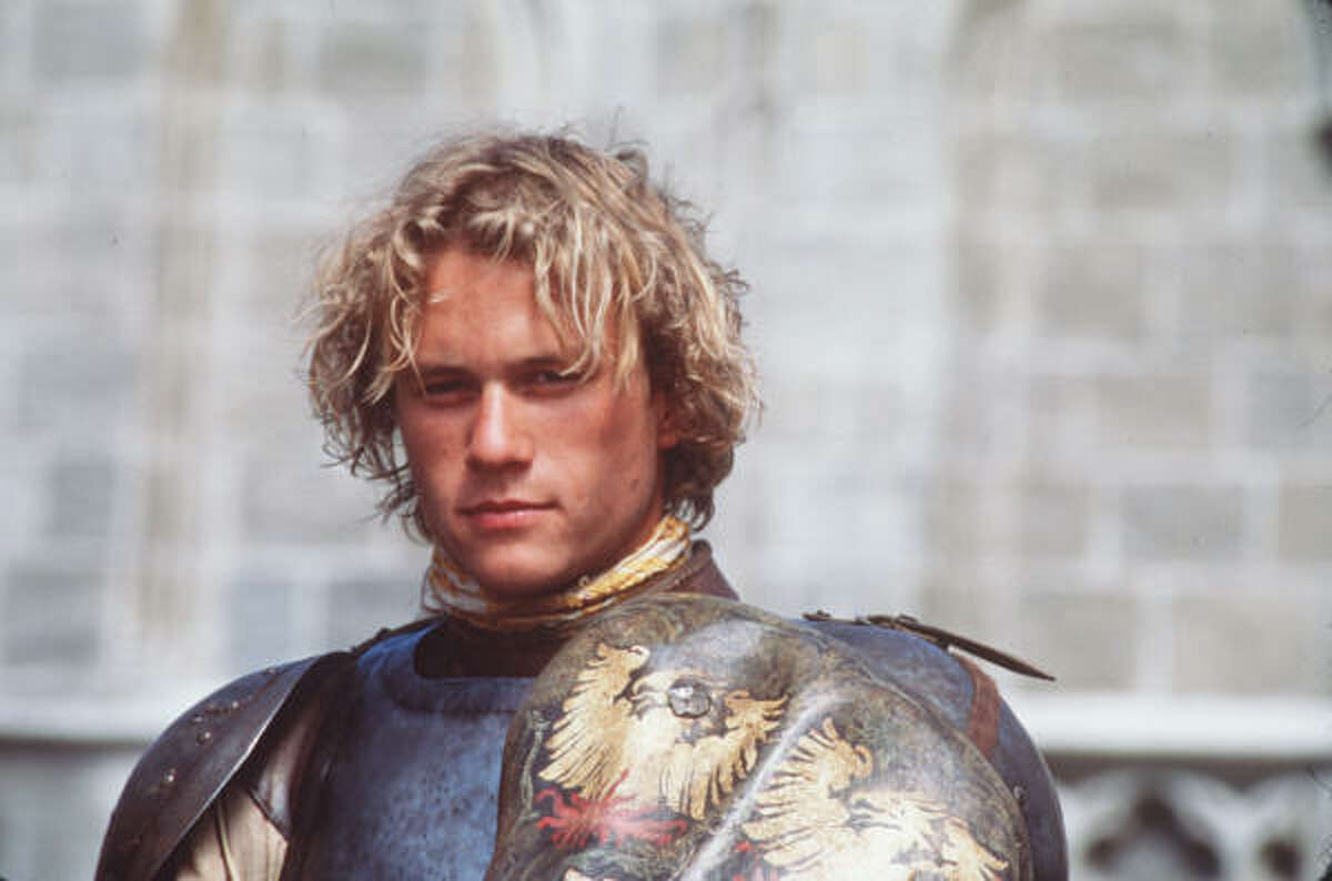 Heath Ledger plays William Thatcher, an indentured servant who jousts his way into an elite circle of knights in A Knight's Tale.