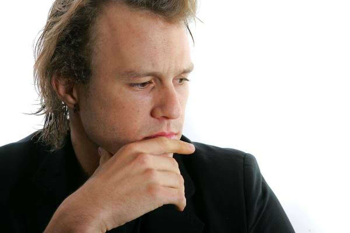 Actor Heath Ledger poses for portraits while promoting the film Candy during the Toronto International Film Festival on Sept. 8, 2006, in Toronto, Canada.