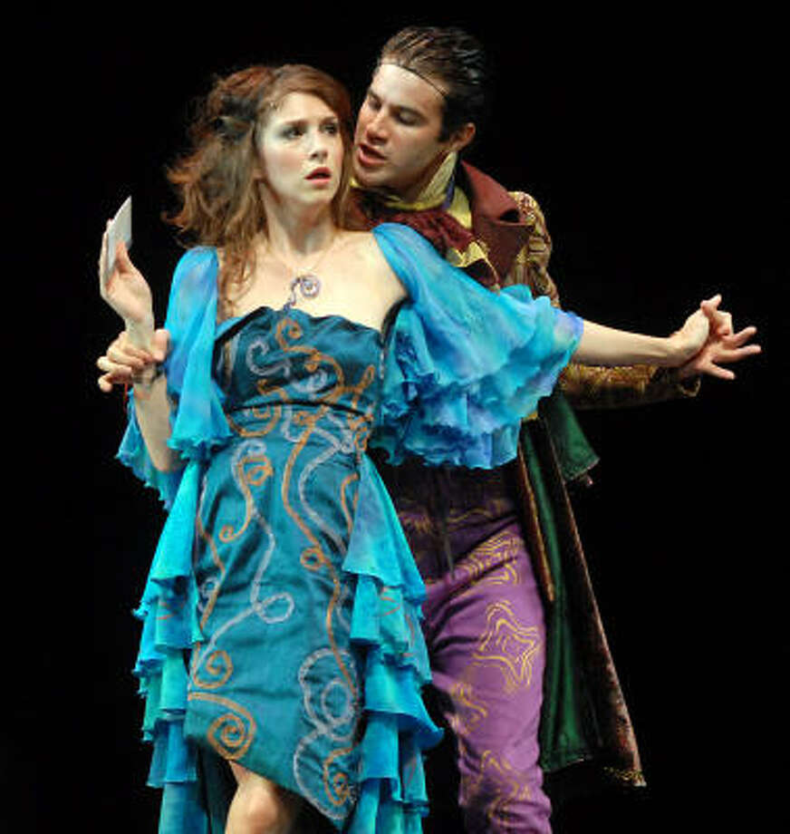 Jessica Boone as Imogen and Bernardo Cubria as Iachimo Photo: Dave Rossman, For The Chronicle