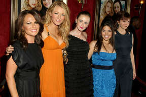 Director Sanaa Hamri, actresses Blake Lively, Alexis Bledel, America Ferrera and Amber Tamblyn attend the world premiere of  The Sisterhood Of The Traveling Pants 2  presented by Warner Bros. Pictures at the Ziegfeld Theatre New York City.