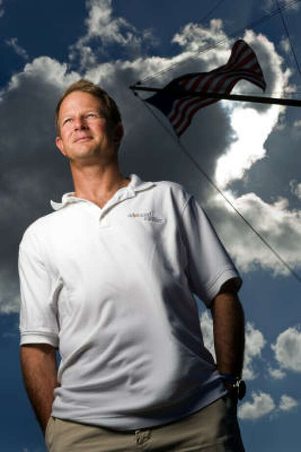 Kemah's Charlie Ogletree won a silver medal in sailing at the 2004 Athens Olympics. He and his partner, John Lovell, head to the Beijing Olympics, hoping to snare a coveted gold medal. Photo: Smiley N. Pool, Chronicle