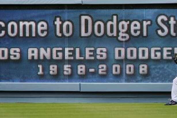 The Dodger Stadium in Los Angeles.