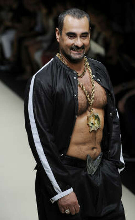 Beefy model Sergio Lo Re stood out at the Vivienne Westwood show. Photo: GIUSEPPE CACACE, AFP/Getty Images