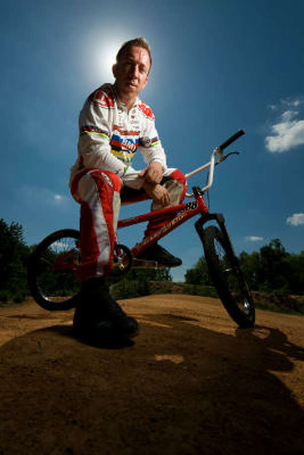 BMX world champion Kyle Bennett is among the medal contenders when the sport makes its Olympic debut in Beijing. Photo: Smiley N. Pool, Chronicle