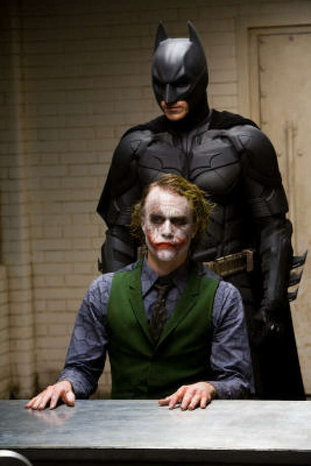 In 'The Dark Knight' Christain Bale once again plays Batman. This time he will battle The Joker (Heath Ledger). Photo: Handout, MCT