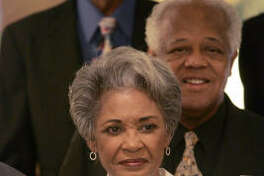 Jazz singer Nancy Wilson continues to look elegant with her short gray hairdo.