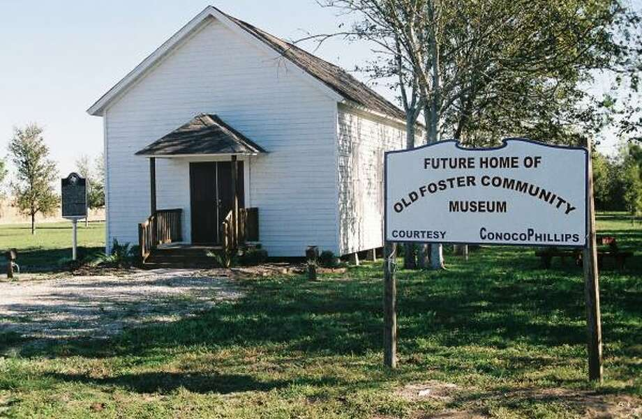The one-room Jones Creek School 7720 FM 359 is the first component of the developing Old Foster Community Museum site. Photo: Ronald Boyce Walker, For The Chronicle