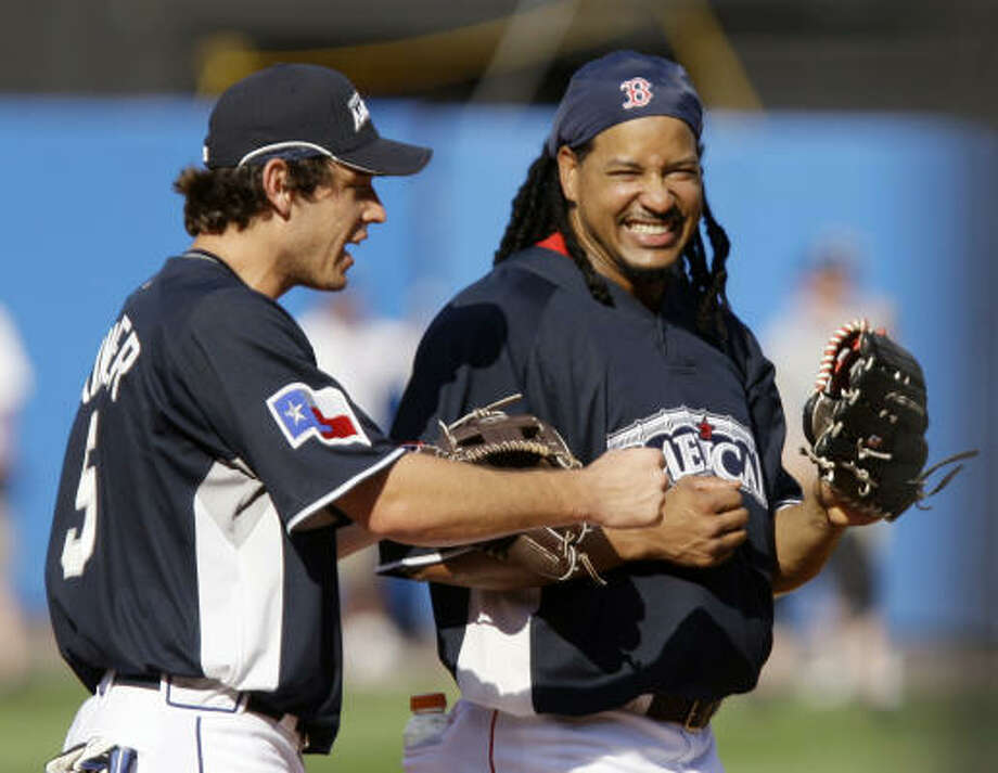"""Manny being Manny""Not surprisingly, free-agent slugger Manny Ramirez would claim and then later abandon his trademark request of the often-used phrase that describes his personality. Photo: Kathy Willens, AP"