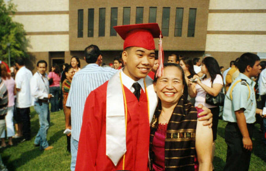 """Regrettably, multiple incidents of alcohol-related deaths have occurred at Texas fraternities before. Researchers say its harder to reduce alcohol consumption in Greek letter organizations.Pictured: Phanta """"Jack"""" Phoummarath and his mother, Soukha, at his high school graduation in Houston in 2005.See controversial moments from college fraternities. Photo: Family Photo"""