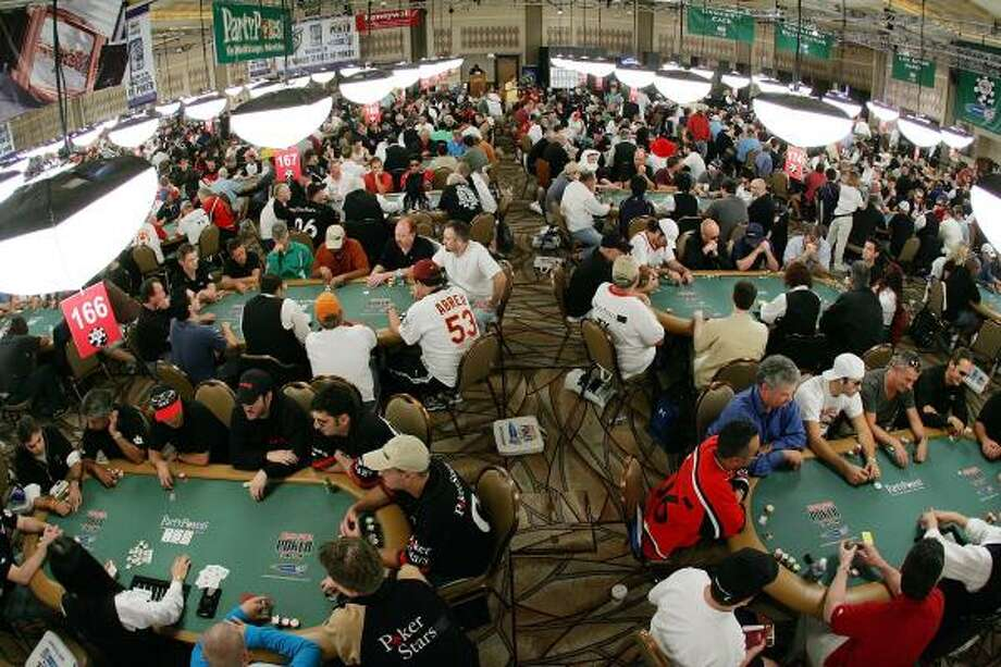 Gamblers compete Sunday in the third day of the first round of the event in Las Vegas. Photo: Ethan Miller, Getty Images