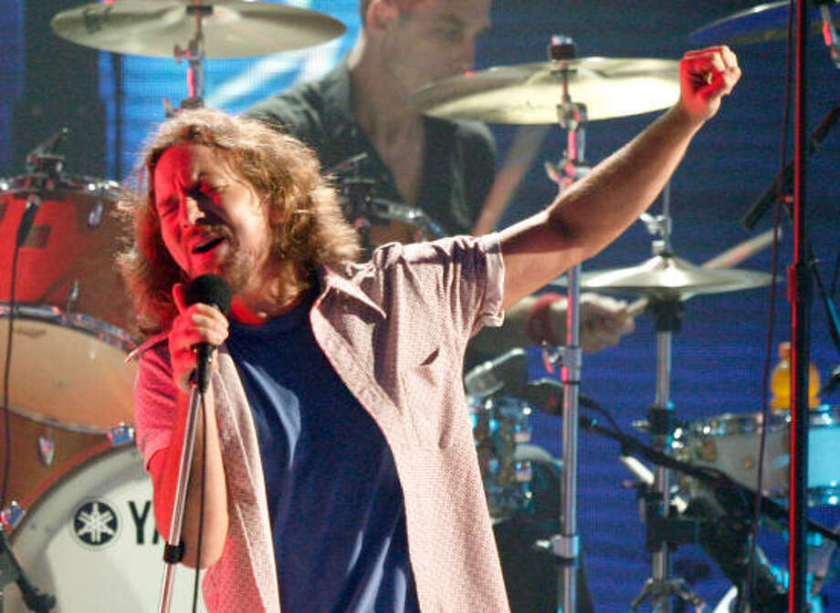 Eddie Vedder of Pearl Jam, who helped with benefit albums, was there the day the West Memphis Three were released from prison.  Photo: Kevin Winter, Getty Images