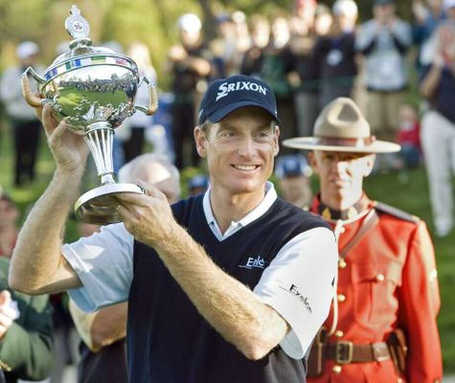Furyk closed the final day of the Canadian Open with a 5-under 65 earning the second victory of the year. Photo: FRANK GUNN, AP