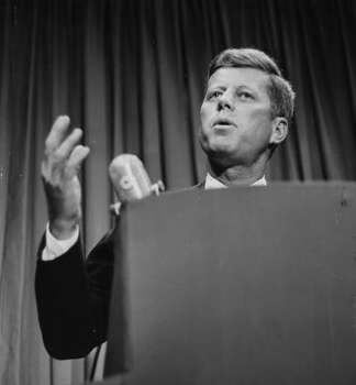 President John F. Kennedy, seen in Houston in 1960. Photo: Chronicle File