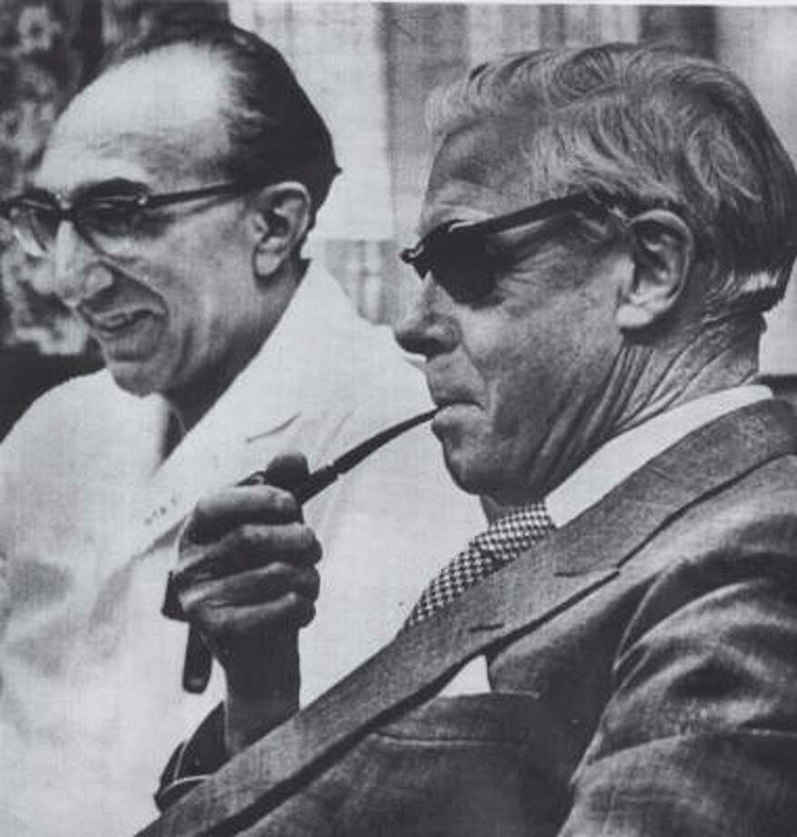 The Duke of Windsor, shown with Houston's Dr. Michael DeBakey in 1965. Photo: Chronicle File