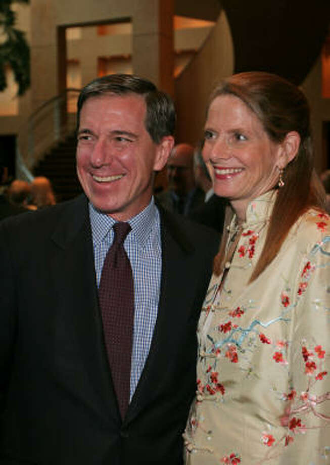 Michael and Shelly Dee at the Teach for America benefit dinner. Photo: Gary Fountain, For The Chronicle