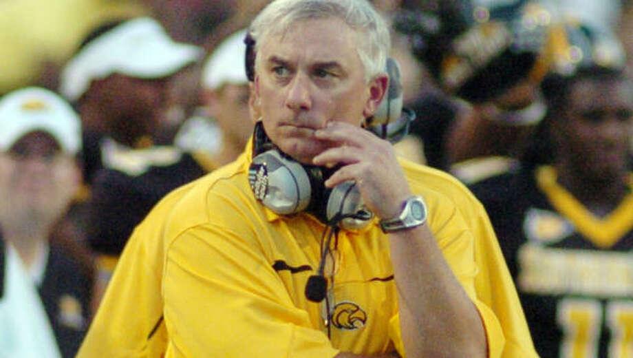 Southern Miss coach Jeff Bower isn't looking to take a bigger job. Photo: STEVE COLEMAN, AP