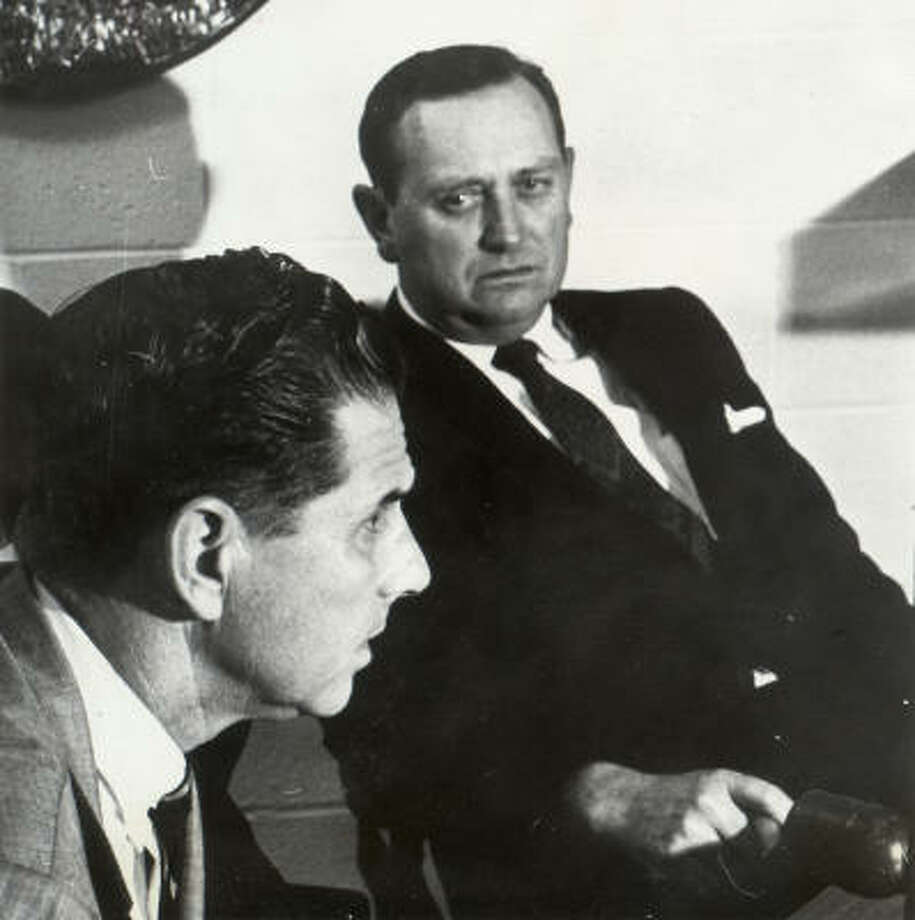 Spec Richardson (right) served as Astros general manager from 1967-75 and made several trades that proved to be disastrous to the franchise. Photo: Chronicle File