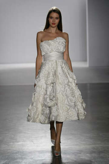 A short wedding dress from the priscilla of boston melissa for Melissa sweet short wedding dress