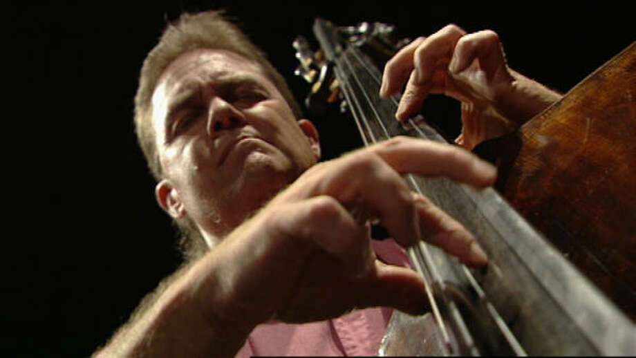 Harold Robinson of the Philadelphia Orchestra plays the bass in Music From the Inside Out. Photo: Anker Productions / ITVS