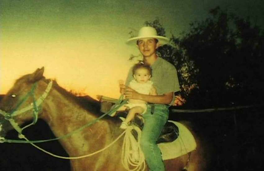 A family photo shows Esequiel Hernandez on horseback.