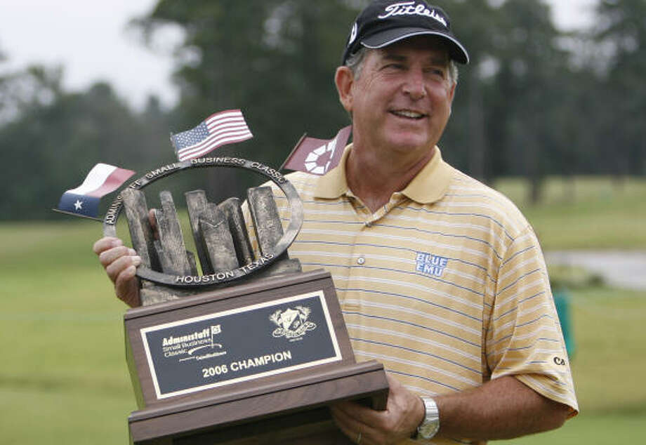 The win at the Administaff Small Business Classic marks Jay Haas' fourth Champions Tour victory this season. Photo: KAREN WARREN, Houston Chronicle