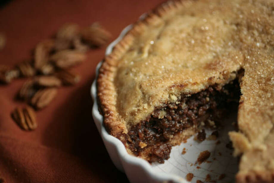 Julie Kiehn's Pecan Tart was adapted from a French recipe that called for walnuts. Photo: Mayra Beltran, Chronicle