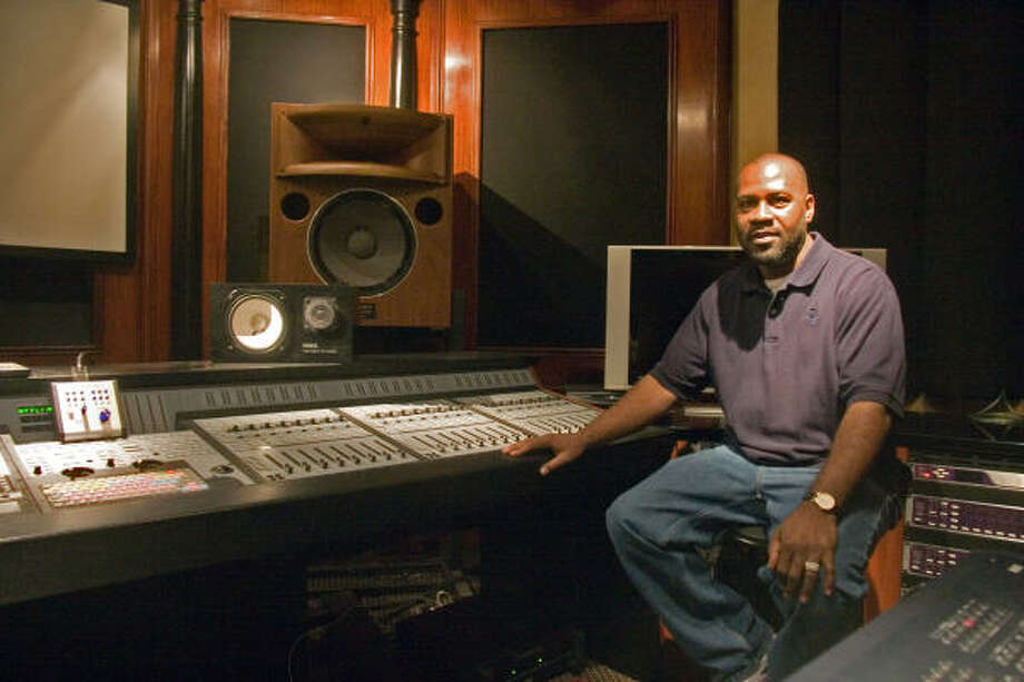 Ronald Bookman, CEO, Studio 7303, is shown inside the recording booths at his studio. Photo: R. Clayton McKee, For The Chronicle