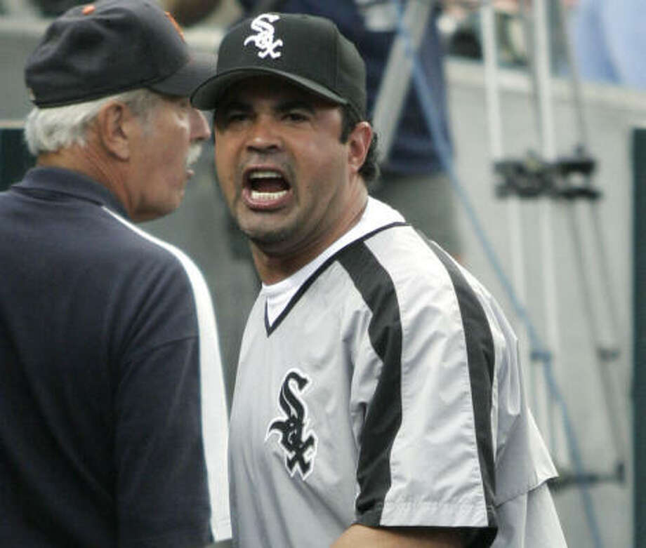 Chicago White Sox manager Ozzie Guillen was still hot after his ejection on Tuesday night. Photo: DUANE BURLESON, AP