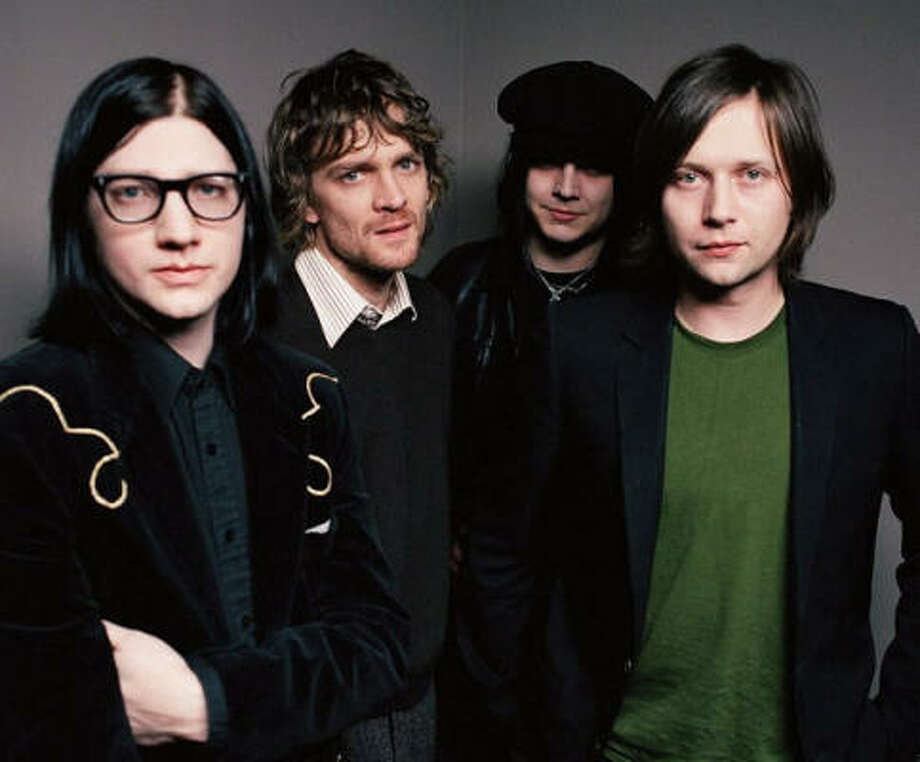 The Raconteurs include Jack Lawrence, from left, Brendan Benson, Jack White and Patrick Keeler. Photo: V2 Records