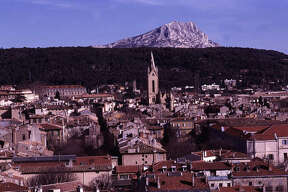 Mont Sainte-Victoire looms behind the southern French university city of Aix-en-Provence. It's a great place to hike.